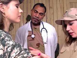 Military Babes Get There 1st Taste Of Interracial Hardcore Porn Videos